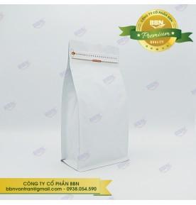 Túi đáy bằng pocket zipper trắng mờ 500g (50 túi)