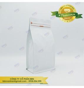 Túi đáy bằng pocket zipper bạc mờ 250g (50 túi)